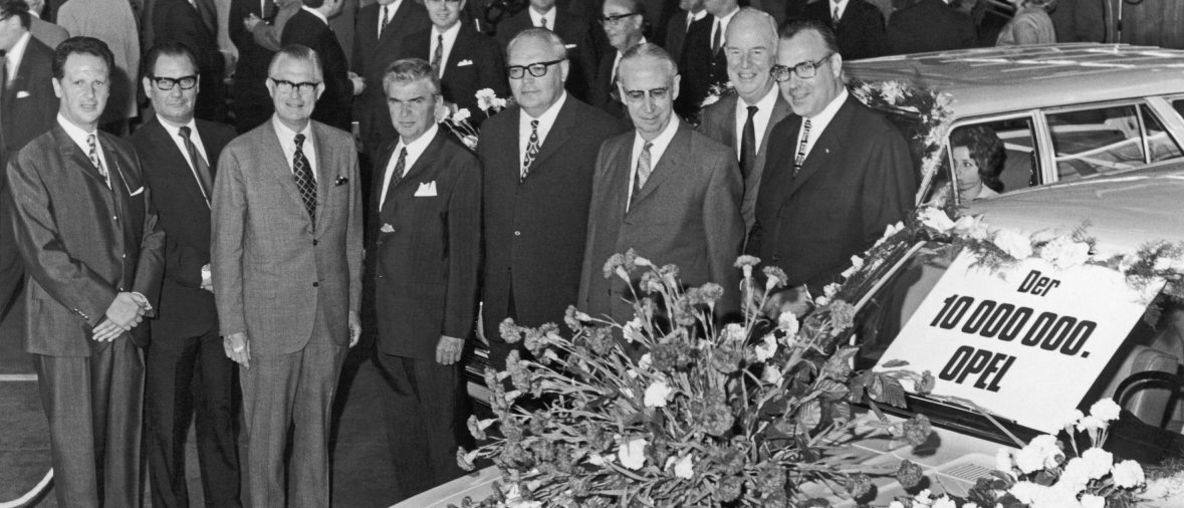 50 Years Ago: Opel Celebrated Production of 10 Millionth Automobile